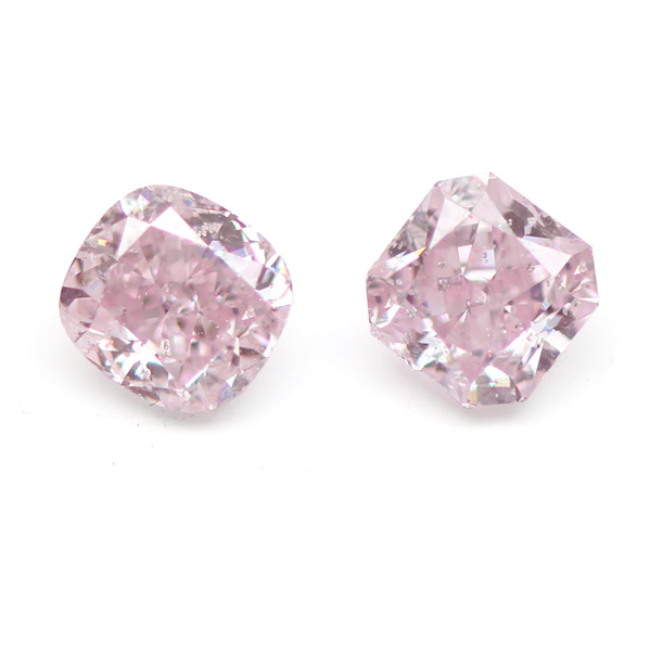 View 1.04 ct. Radiant Fancy Purplish Pink (Pair)