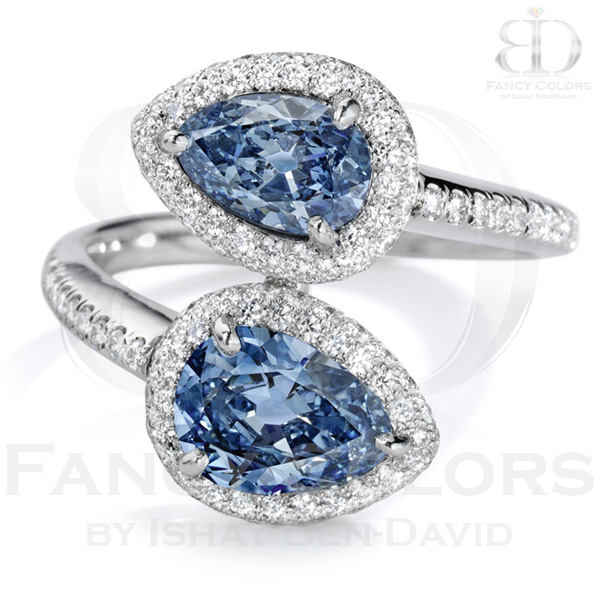 View 2.34 ct. Pear Shape FANCY VIVID BLUE