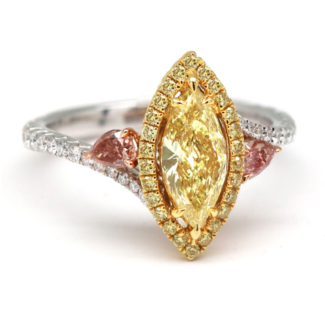0.7 Marquise Fancy Yellow