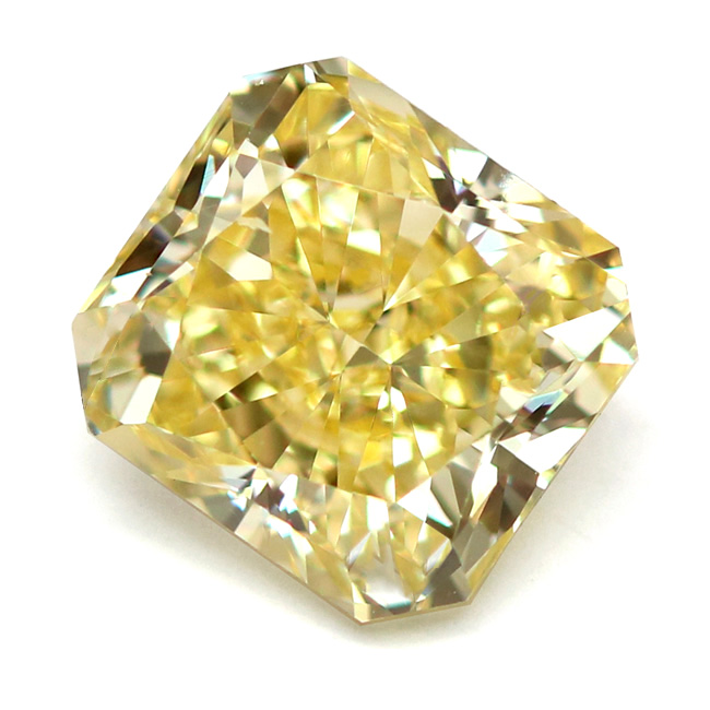 View 3.17 ct. Radiant Fancy Intense Yellow (Pot. IF)