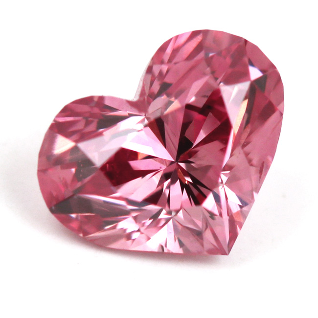 View 0.7 ct. Heart Shape Fancy Intense Pink
