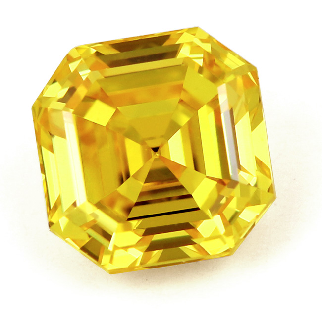 View 1.03 ct. Emerald Cut Fancy VIVID Yellow