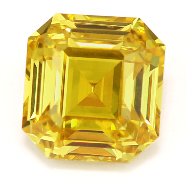 View 1.04 ct. Emerald Cut Fancy Vivid Yellow