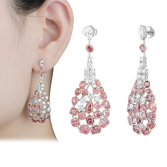 View 10.02 ct. Other Fancy Pink (Earrings)