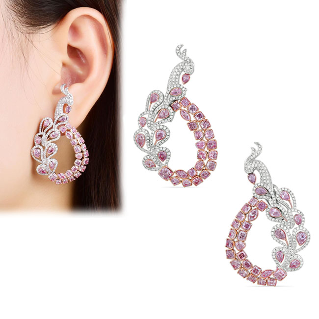 View 9.76 ct. Other Fancy Pink (Earrings)