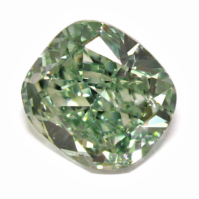 View 1.03 ct. Cushion Fancy Intense Green