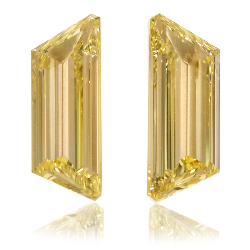 View 2.12 ct. Trapezoid Fancy Yellow (Pair)