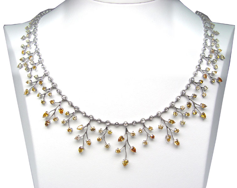 View An Elegant Multi-Color diamond necklace