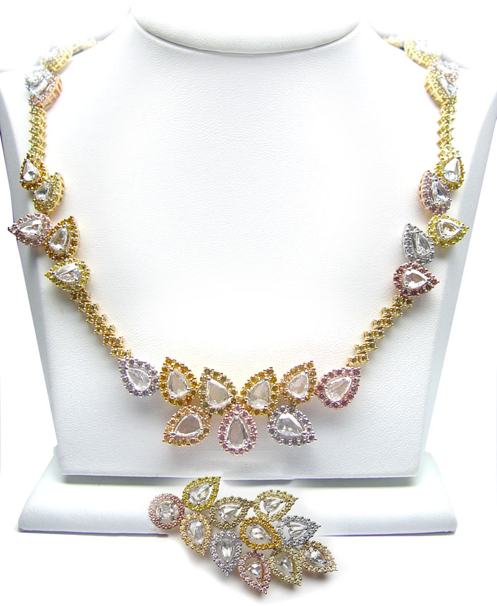 View 28.15 carat Rose Cut Necklace